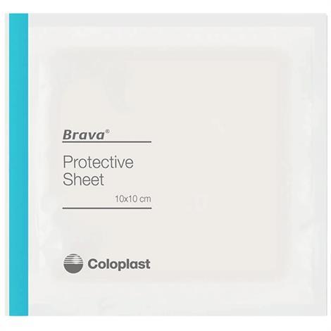 "Coloplast Brava Skin Barrier Protective Sheets,4"" x 4"" (10cm x 10cm),10/Pack,32105"