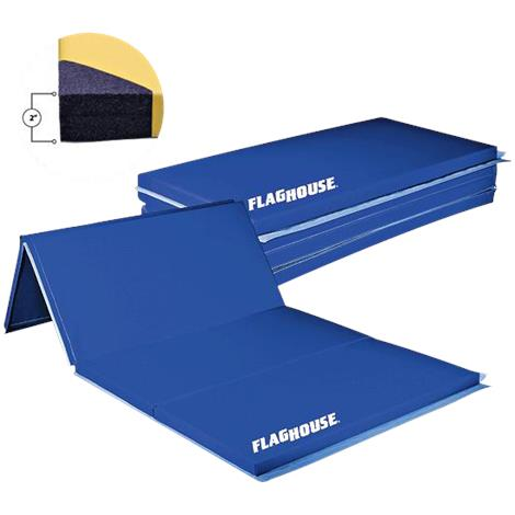 Flaghouse Polyethylene Mat With 2 Sided Hook And Loop Fasteners
