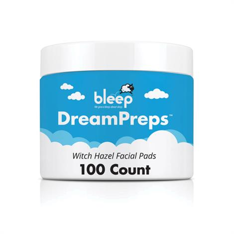 BleepSleep DreamPreps Witch Hazel Facial Pads,DreamPreps Pads,100/Pack,CAPB100433