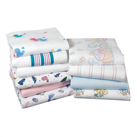 Medline Kuddle Up Flannel Blankets,Baby Footprint,72/Case,MDTPB3C40FTP