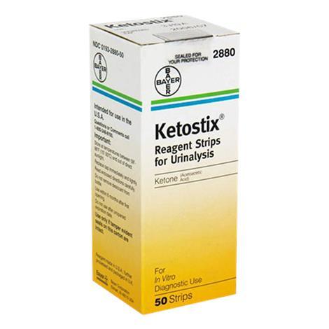 Bayer Ketostix Reagent Strips For Urinalysis,For Urine Ketones,100/Pack,12Pk/Case,2881