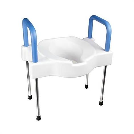 Maddak Extra Wide Tall-Ette Elevated Toilet Seat with Arms And Legs,With Aluminum Frame,Each,F725881000