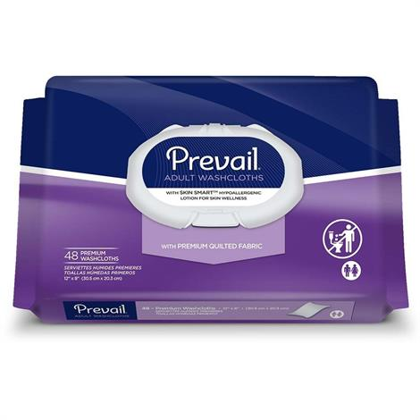 Prevail Premium Quilted Washcloths,Large Refill,Size - 12 x 8,96/Pack,6Pk/Case,WW-902