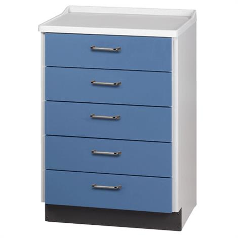 Clinton Molded Top Treatment Cabinet with Five Drawers,0,Each,8805-A