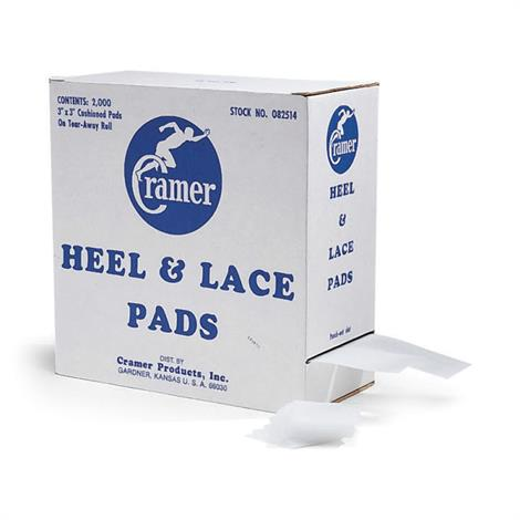 Cramer Heel and Lace Foam Pads,Heel & Lace Foam Pads,2000/Case,CRM129