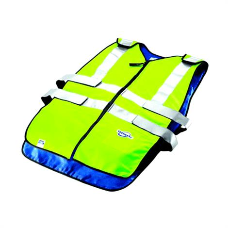 Techniche Coolpax Phase Change Cooling ANSI CL II Traffic Safety Vests,2XL,Each,6626HV