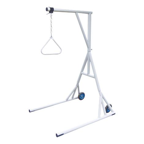 Drive Bariatric Free Standing Trapeze with Base and Wheels,Silver Vein Finish,Each,13039SV