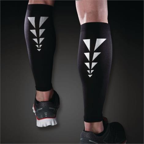 Cramer Ess Reflective Calf Compression Sleeves,Black M,2/Pack,81671056