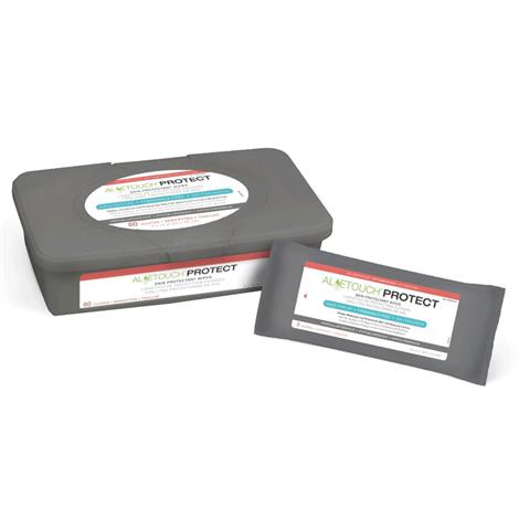 "Medline Readycleanse Aloetouch PROTECT Dimethicone Spunlace Skin Protectant Wipes,8"" x 12"" (20cm x 30cm),24/Pack,24Pk/Case,MSC095281"
