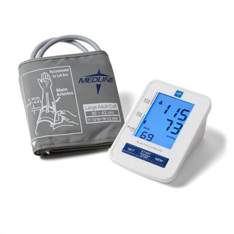 Medline Automatic Digital Pressure Monitors,Talking Model With Large Adult Cuff,Each,MDS4001LAT