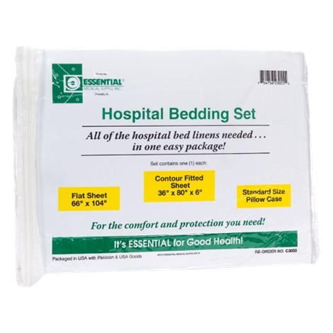 "Essential Medical Deluxe Hospital Bed Set,9""L x 11""W x 3""H,Each,C3056"