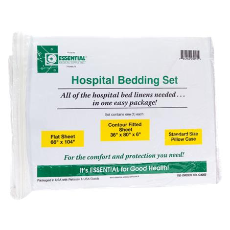 "Essential Medical Hospital Bed Set,9""L x 11""W x 3""H,Each,C3054"