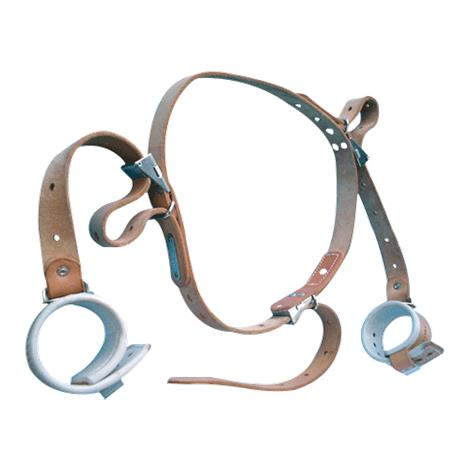 Humane Restraint Ambulatory Wrist-Waist Restraint Belt,Leather,Each,MNDL-401