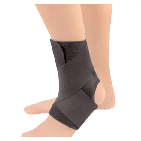 "FLA Safe-T-Sport EZ-ON Wrap Around Ankle Support,XXX-Large,18-1/2"" to 20-1/2"",Each,40-5503LBLK BSN40-5503LBLK"