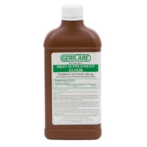 McKesson Geri Care Ferrous Sulfate Elixir,220 mg / 5 ml,16 fl. oz.,12/Case,Q701-16-GCP