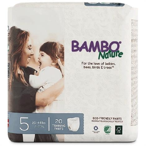 Abena Bambo Nature Toddler Training Pant,Size 5,for 26 to 44 lb,20/Pack,100/Case,310178