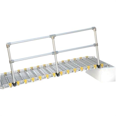 Roll-A-Ramp Removable Aluminum Handrail Kit,With 10ft Handrail (For 12ft and 13ft Ramps),Each,4040-10