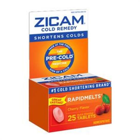Emerson Zicam Rapidmelt Cold Remedy Tablet,Cherry,25 count,Each,201035A