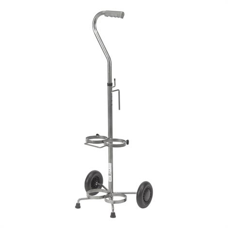 Drive Adjustable Handle Height Dual Oxygen Cart,Holds 2 Cylinders,2/Pack,13001SV-2