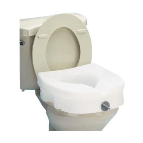 Carex E-Z Lock Raised Toilet Seat,Seat with Padded Armrests,Each,FGB311C0 0000