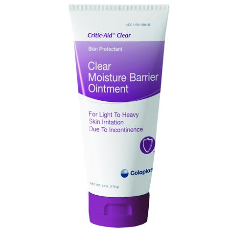 Coloplast Critic-Aid Clear Moisture Barrier Ointment,2.5oz (71gm),Tube,12/Case,7566