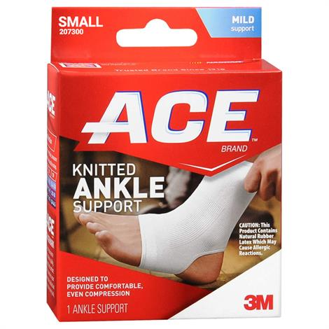 3M ACE Knitted Ankle Support,Large,Each,207302