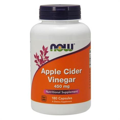 Now Apple cinder vinegar al supplement,Apple Cinder Vinegar, 180c,Each,9441664