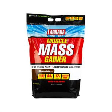 Labrada Muscle Mass Gainer Supplement,Chocolate 12lb,Each,790560
