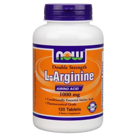 Now Argenine Amino Acid,Argenine, 1000mg,Each,9440026