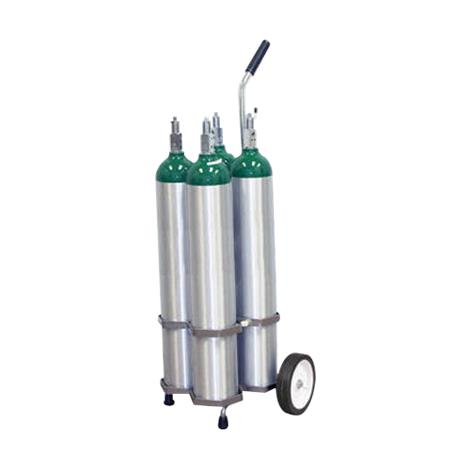 Responsive Respiratory Four Cylinder D E M9 Cylinder Cart,Four Cylinder Carry Cart,Each,150-0130 RRI150-0130
