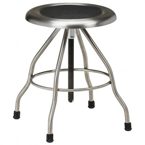 Clinton Stainless Steel Stool with Rubber Feet,Stainless Steel Stool with Rubber Feet,Each,SS-2169