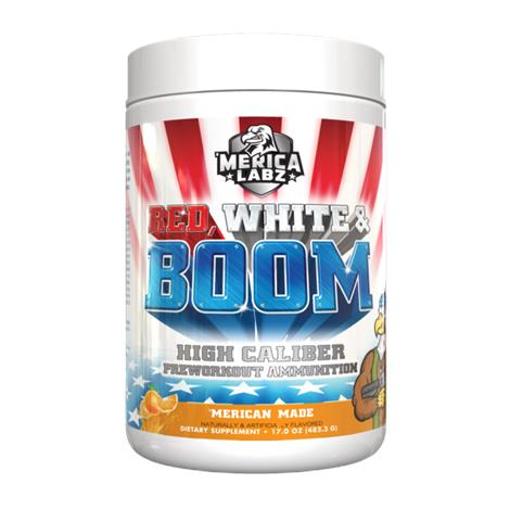 Merica Labz Red White & Boom Pre Workout Dietary Supplement,Merican Made, 1lb,Each,3790052