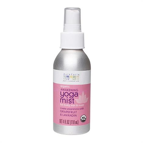 Aura Cacia Organic Grapefruit And Lavandin Orange Yoga Mist,Yoga Mist 4 Oz,Each,190349