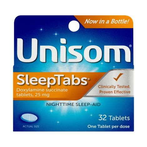 Unisom SleepTabs Nighttime Sleep Aid Tablet,Unisom Sleeptab,48 Tablets,Each,A04116700623