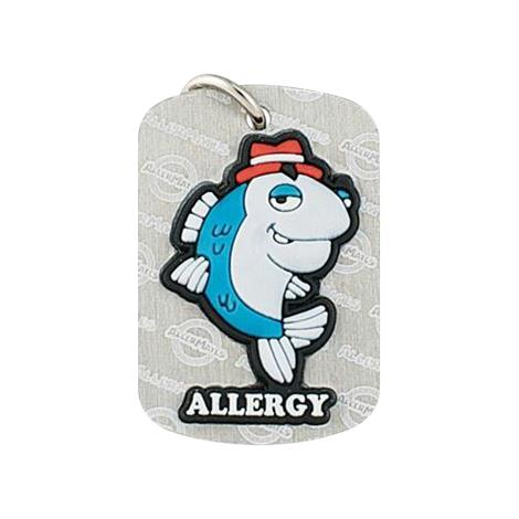 AllerMates Dog Tag Detective Fin Fish Allergy,Fish Allergy Alert Dog Tag,Each,2554G