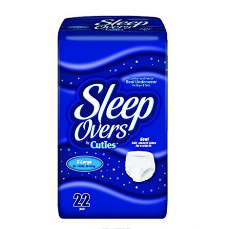 Sleep Overs Disposable Youth Pants With Dri-Fit Technology,X-Large,85lb to 140lb,22/Pack,4Pk/Case,SLP05303