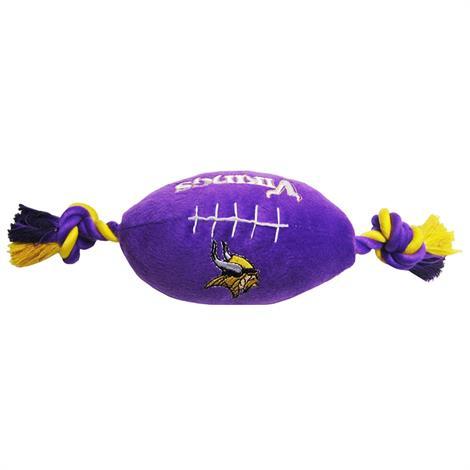 First Minnesota Vikings Plush Rope Football Toy,Minnesota Vikings Football Toy,Each,MIN-3033 MIN-3033