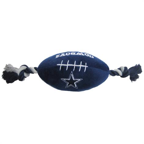 """First Dallas Cowboys Plush Rope Football Dog Toy,10"""" x 4"""",Each,DAL-3033 DAL-3033"""