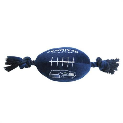 First Seattle Seahawks Plush Rope Football Toy,10 x 4,Each,SEA-3033