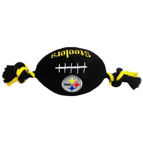 First Pittsburgh Steelers Plush Rope Football Toy,10 x 4,Each,PIT-3033