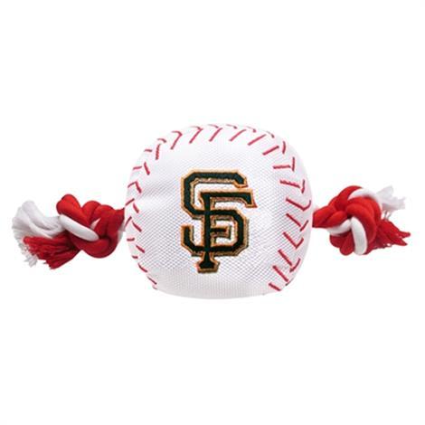 First San Francisco Giants Nylon Baseball Rope Toy,Nylon Baseball Toy with Rope,Each,SFG-3105