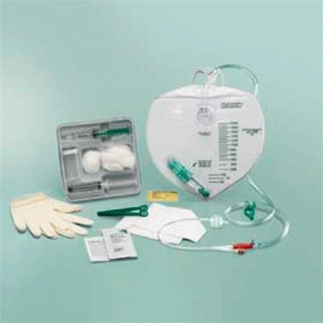Bard All Silicone Center Entry Drainage Bag Foley Tray,With 14FR Catheter,Each,897414