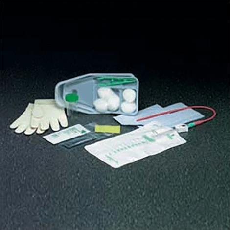 Bard Slim-Line Paperboard Intermittent Catheter Tray,With 14FR Plastic Catheter,Latex-Free,20/Case,771114
