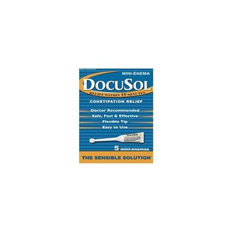Alliance Labs DocuSol Constipation Relief Mini Enemas,283mg,24/Case,5/pack,17433-9878-05