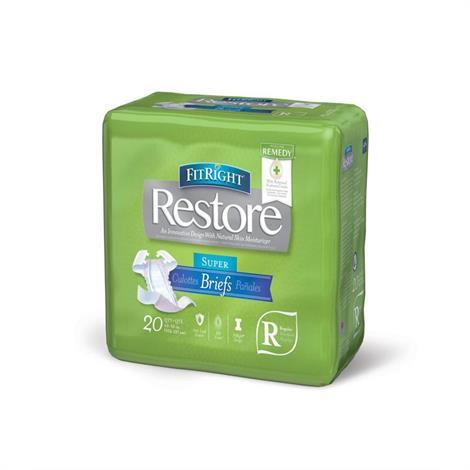 Medline FitRight Restore Clothlike Adult Briefs,FitRight Restore Briefs,Medium,Fits Waist 32