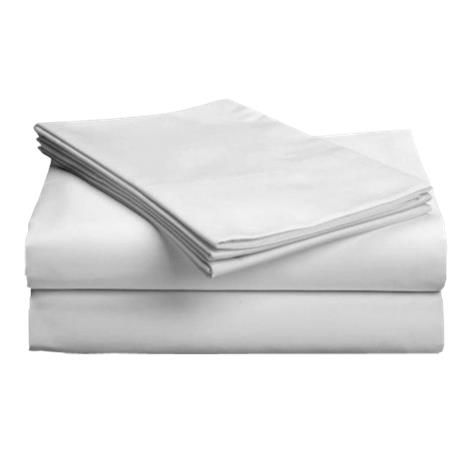 "Gotcha Covered Hospital Cotton Blend Bedsheet Set,Twin,36"" x 80"",Each,H3680-2-WH"