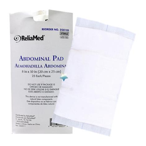 ReliaMed Absorbent Abdominal Pads,5 x 9,Non-Sterile,576/case,ZG59NS