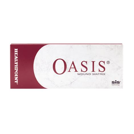 Healthpoint Oasis Wound Matrix Dressing,3cm x 3.5cm Pad,Fenestrated,10/Pack,8213-1000-33