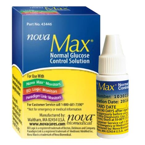 Nova Max Normal Control Solution,0.1oz,24/Pack,49640