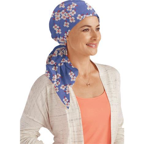 Amoena Primrose Cotton Headscarf,Lavender/Multi,Each,43246